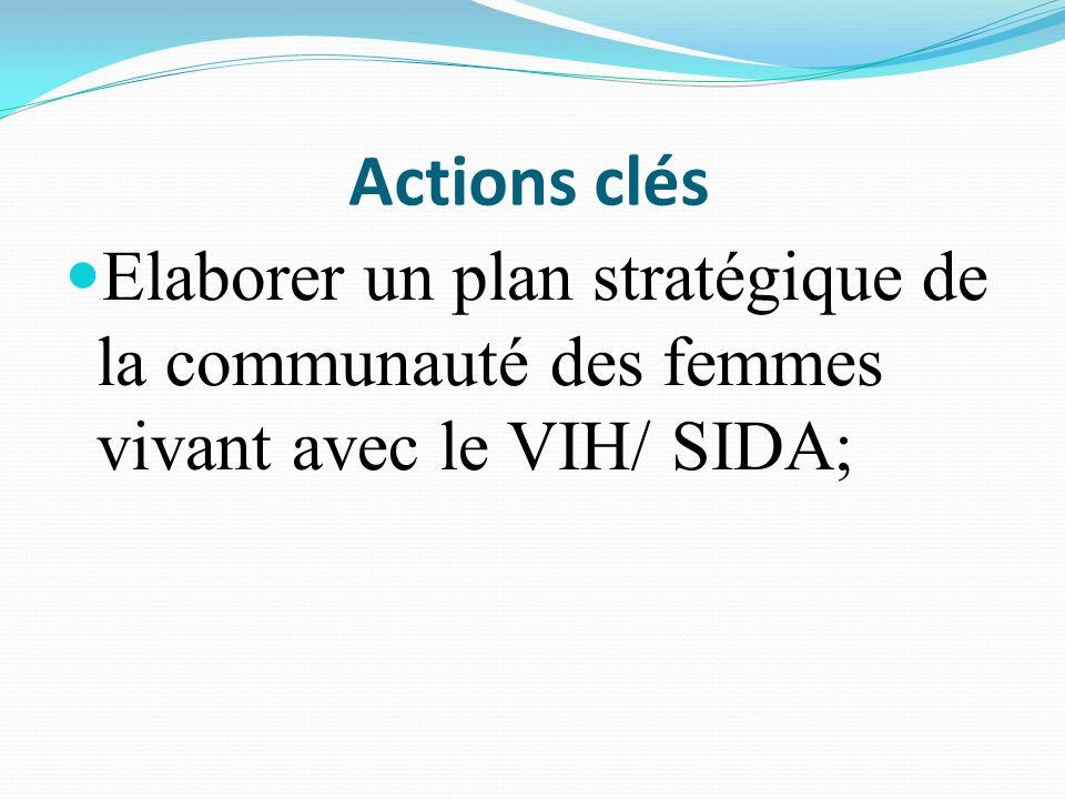 Actions clés Elaborer un document de plaidoyer pour un appui institutionnel;