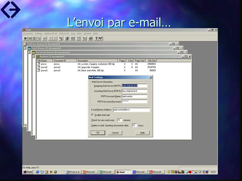 Lenvoi par e-mail…