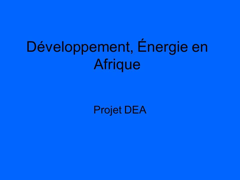 Développement, Énergie en Afrique Projet DEA
