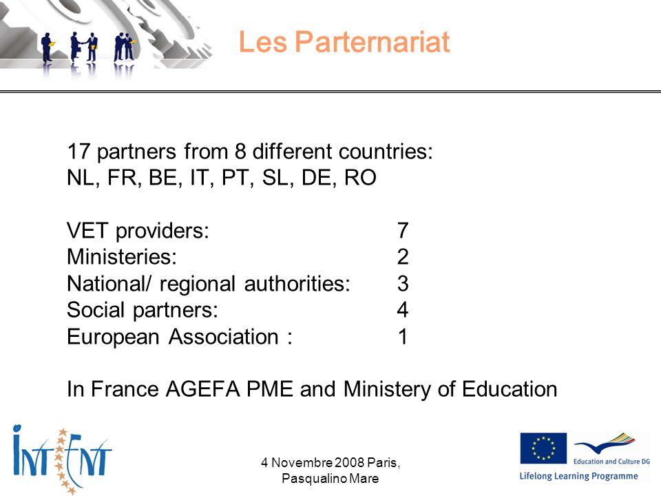 The website : www.intentproject.eu 4 Novembre 2008 Paris, Pasqualino Mare