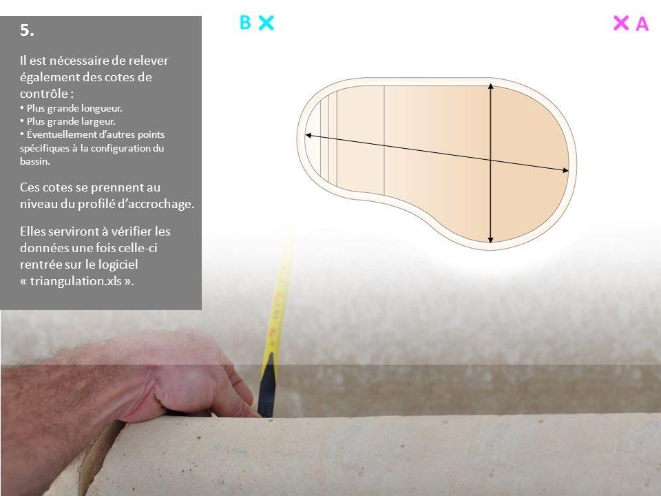 B A 5. Il est nécessaire de relever également des cotes de contrôle : Plus grande longueur. Plus grande largeur. Éventuellement dautres points spécifi