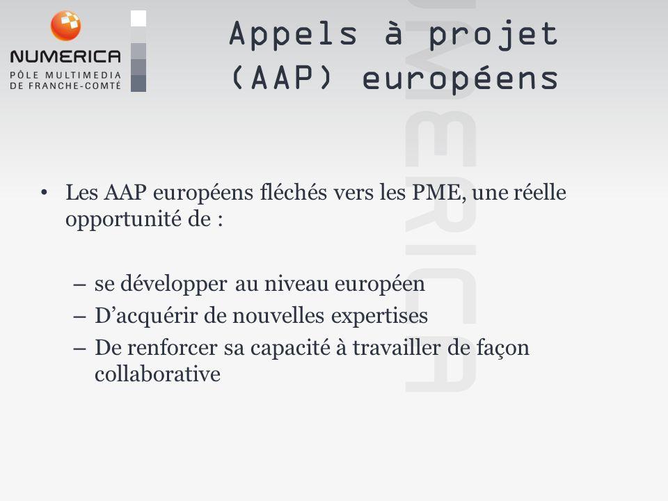 Les AAP européens fléchés vers les PME, une réelle opportunité de : – se développer au niveau européen – Dacquérir de nouvelles expertises – De renfor