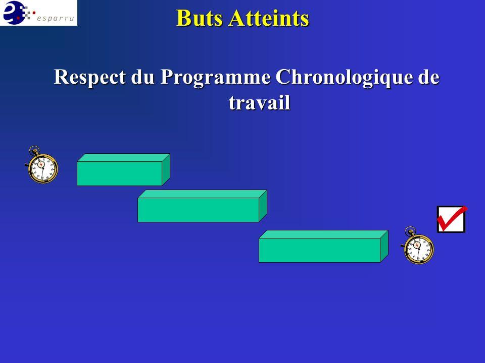 Buts Atteints Respect du Programme Chronologique de travail