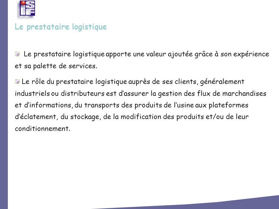Le prestataire logistique apporte une valeur ajoutée grâce à son expérience et sa palette de services. Le rôle du prestataire logistique auprès de ses