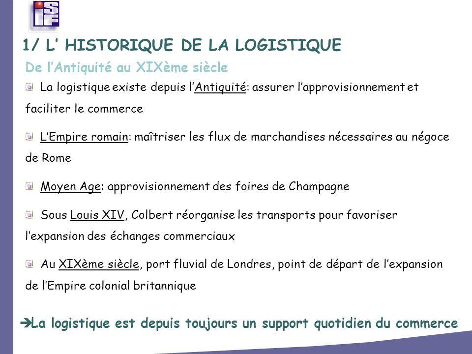 3/ LES ACTEURS DE LA LOGISTIQUE Les chargeurs (distributeurs et industriels) sont les principaux acteurs de la chaîne logistiques, aux côtés des prestataires.