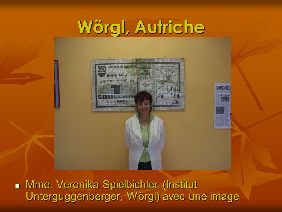 Wörgl, Autriche Mme. Veronika Spielbichler (Institut Unterguggenberger, Wörgl) avec une image Mme. Veronika Spielbichler (Institut Unterguggenberger,