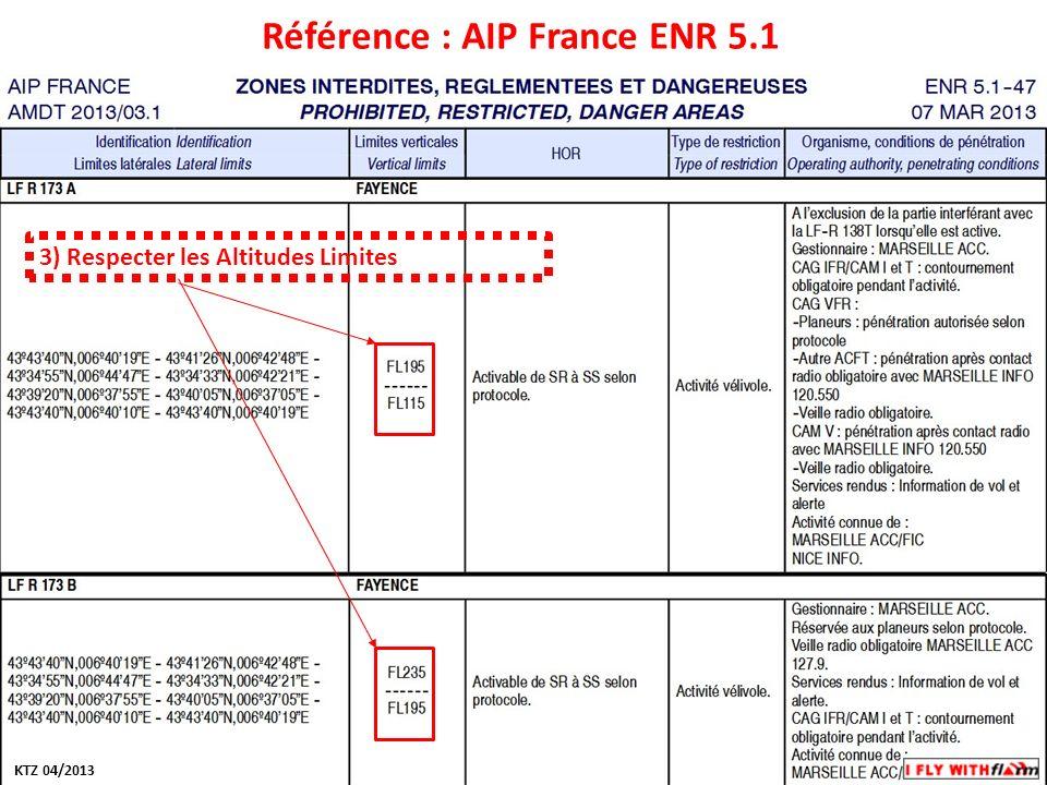 Modifiez les styles du texte du masque Deuxième niveau Troisième niveau Quatrième niveau Cinquième niveau Référence : AIP France ENR 5.1 3) Respecter