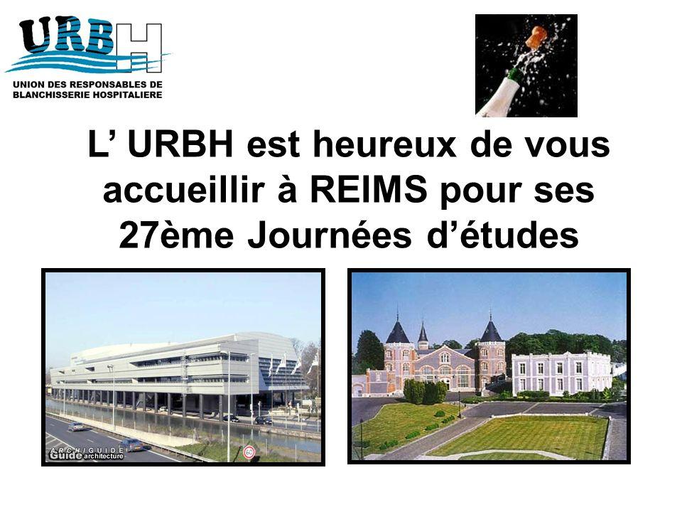 L URBH est heureux de vous accueillir à REIMS pour ses 27ème Journées détudes