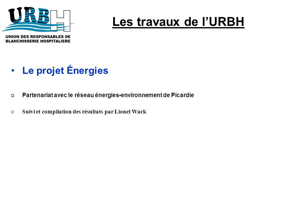 Le projet Énergies oPartenariat avec le réseau énergies-environnement de Picardie oSuivi et compilation des résultats par Lionel Wack Les travaux de l