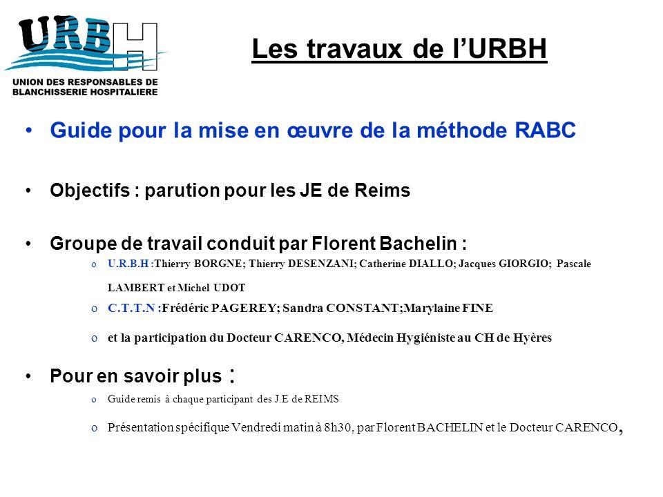Guide pour la mise en œuvre de la méthode RABC Objectifs : parution pour les JE de Reims Groupe de travail conduit par Florent Bachelin : oU.R.B.H :Th
