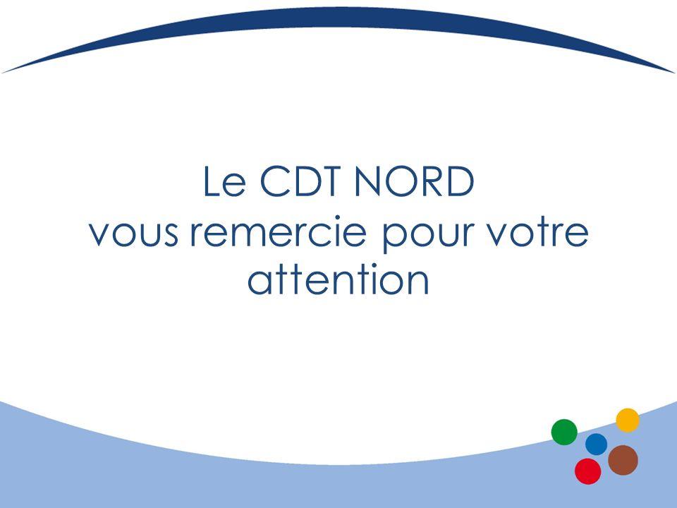 Le CDT NORD vous remercie pour votre attention
