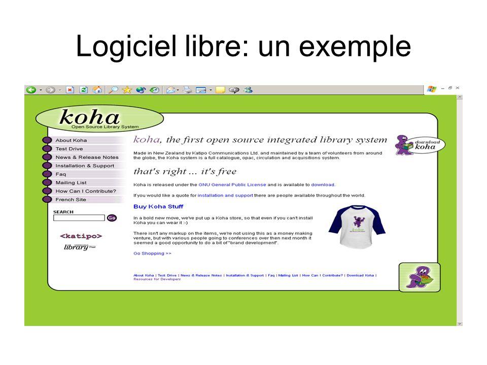 Logiciel libre: un exemple