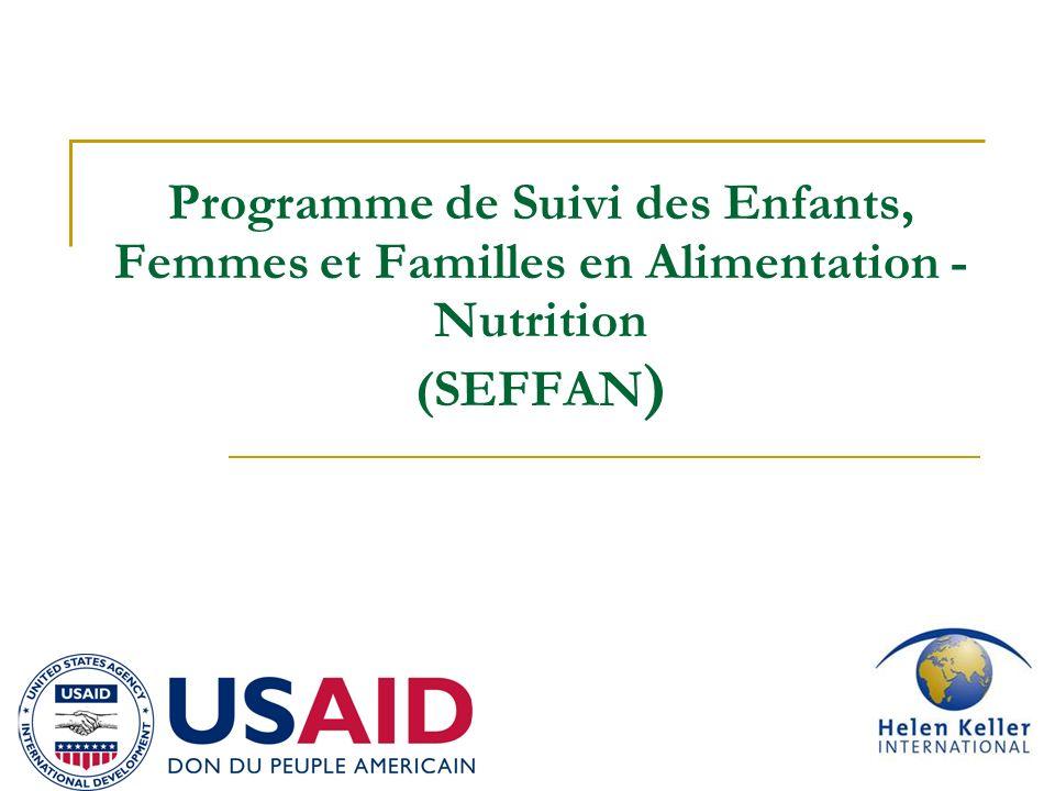 1 Programme de Suivi des Enfants, Femmes et Familles en Alimentation - Nutrition (SEFFAN )