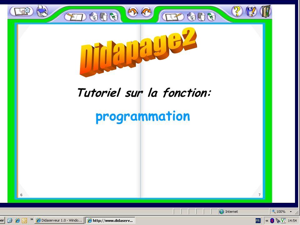 Tutoriel sur la fonction: programmation