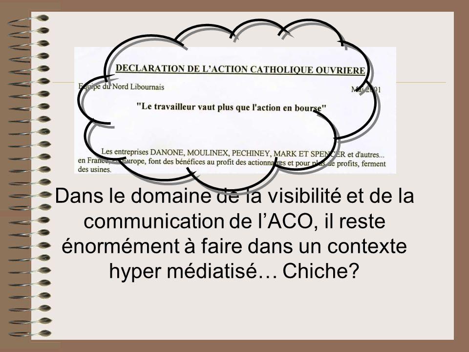 Dans le domaine de la visibilité et de la communication de lACO, il reste énormément à faire dans un contexte hyper médiatisé… Chiche?
