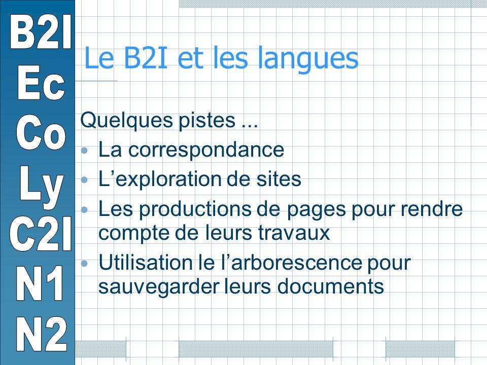 Le B2I et les langues Quelques pistes...