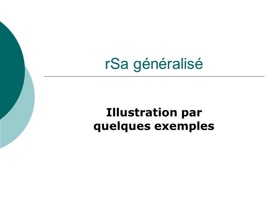 rSa généralisé Illustration par quelques exemples
