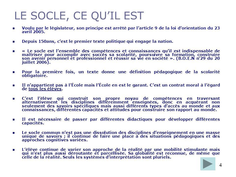 5 1.La maîtrise de la langue française.2.La pratique d une langue vivante étrangère.