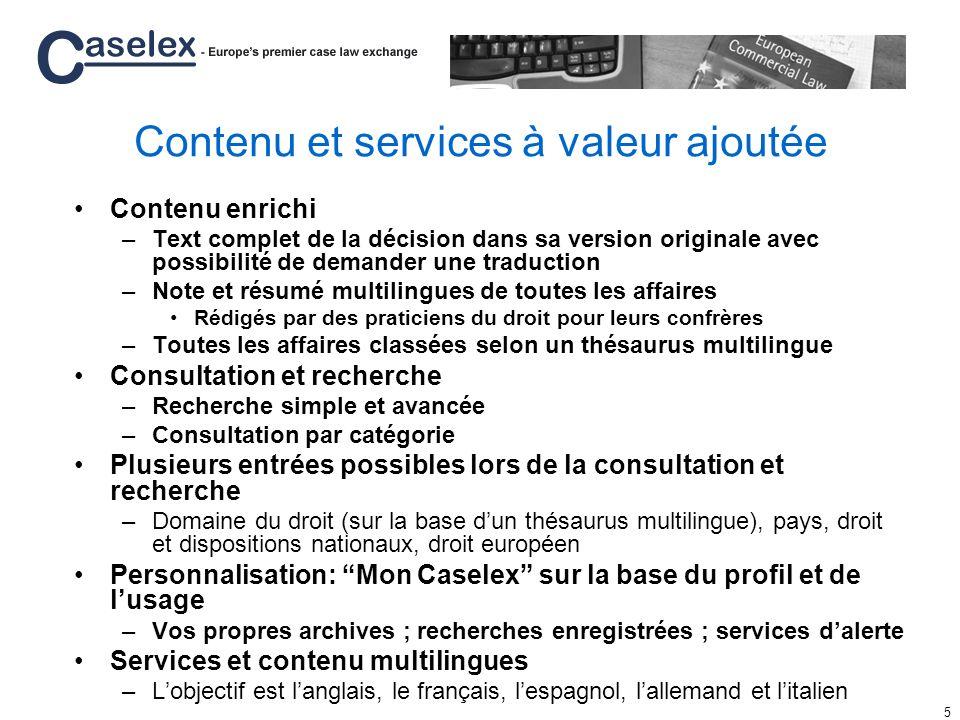 6 Lancement de Caselex en 2006