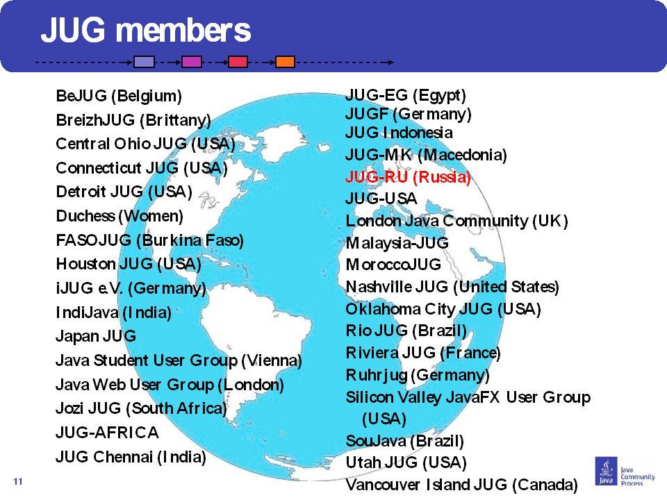 12 JUG representation dans le CE SouJava (Bruno Souza, Fabio Velloso, Yara Senger): Nominé par Oracle to a ratified seat on the SE/EE EC in the May 20
