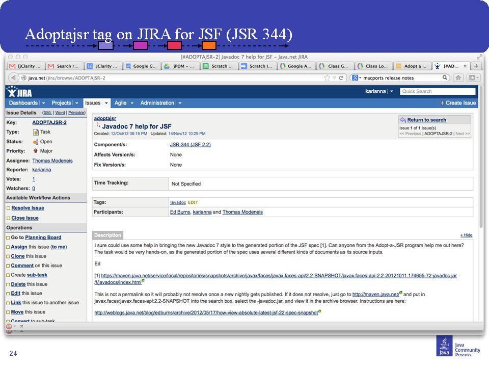 25 Comment Joindre? Contacter votre JUG leader Visiter http://java.net/projects/adoptajsr et suivre les étapes décrites suivantes :http://java.net/pro