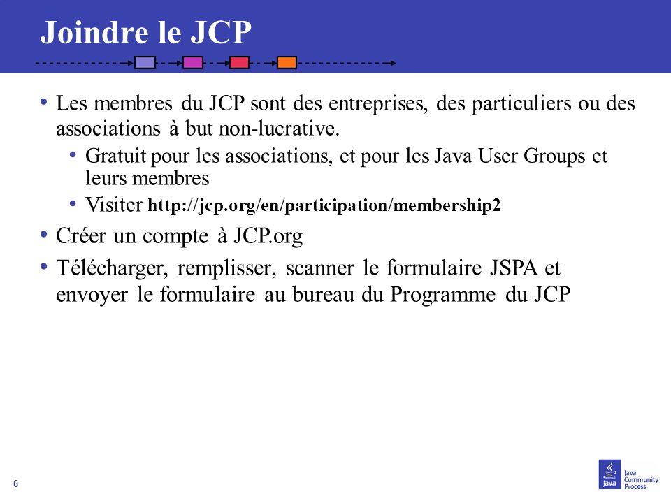6 Joindre le JCP Les membres du JCP sont des entreprises, des particuliers ou des associations à but non-lucrative. Gratuit pour les associations, et