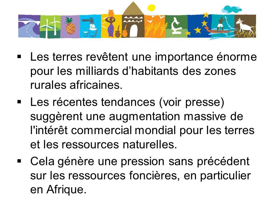 Code de conduite international pour l acquisition foncière et principes minimums (ONU).