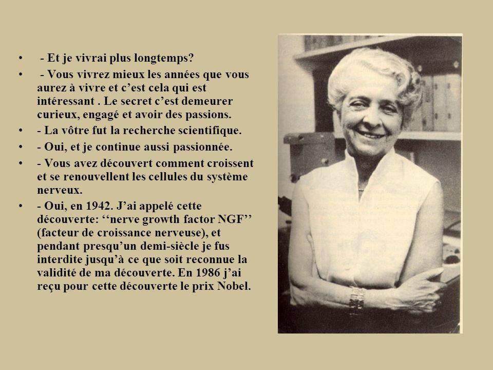 Aide les autres à saider soi-même. Rita Levi-Montalcini, Neurologue.