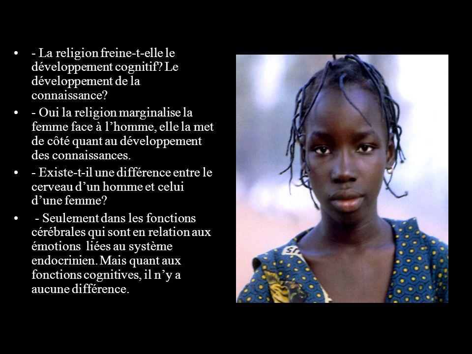 - La religion freine-t-elle le développement cognitif.