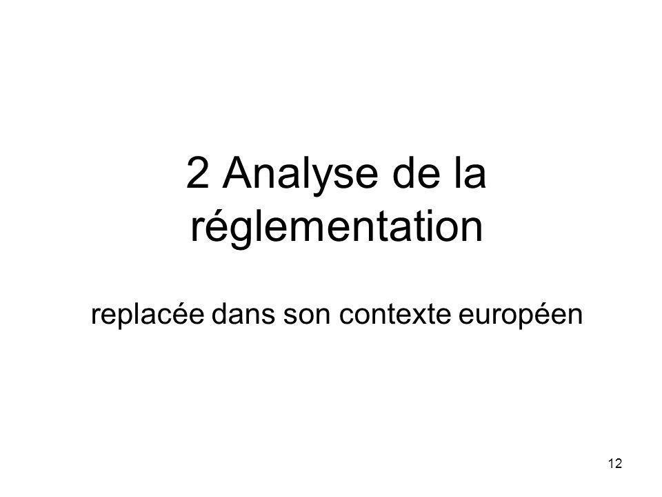 12 2 Analyse de la réglementation replacée dans son contexte européen