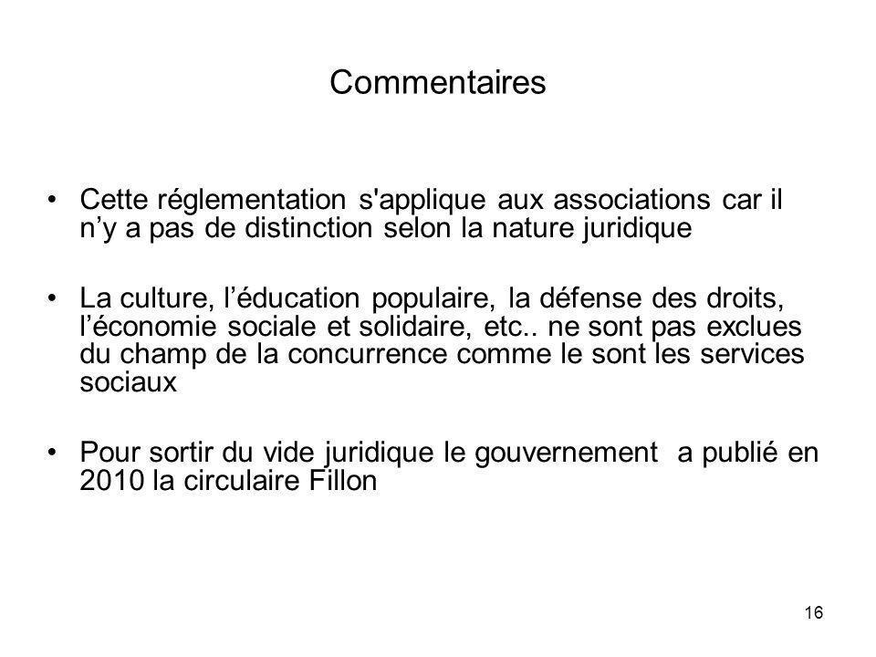16 Commentaires Cette réglementation s'applique aux associations car il ny a pas de distinction selon la nature juridique La culture, léducation popul