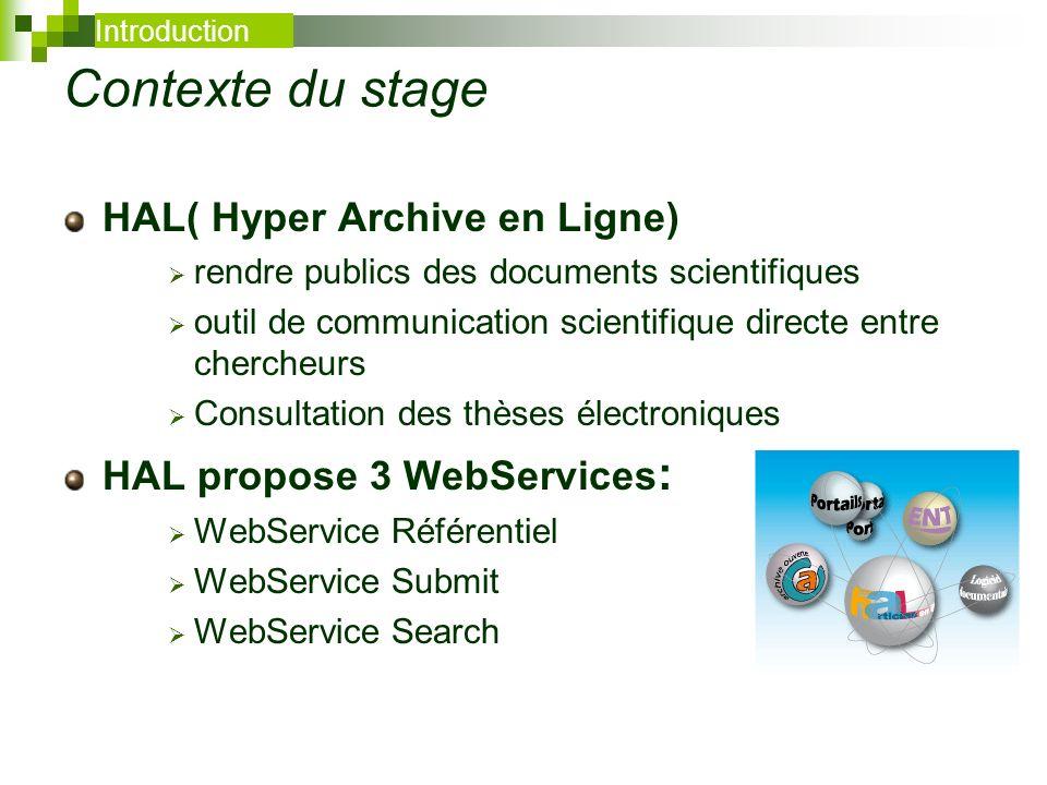 Contexte du stage HAL( Hyper Archive en Ligne) rendre publics des documents scientifiques outil de communication scientifique directe entre chercheurs