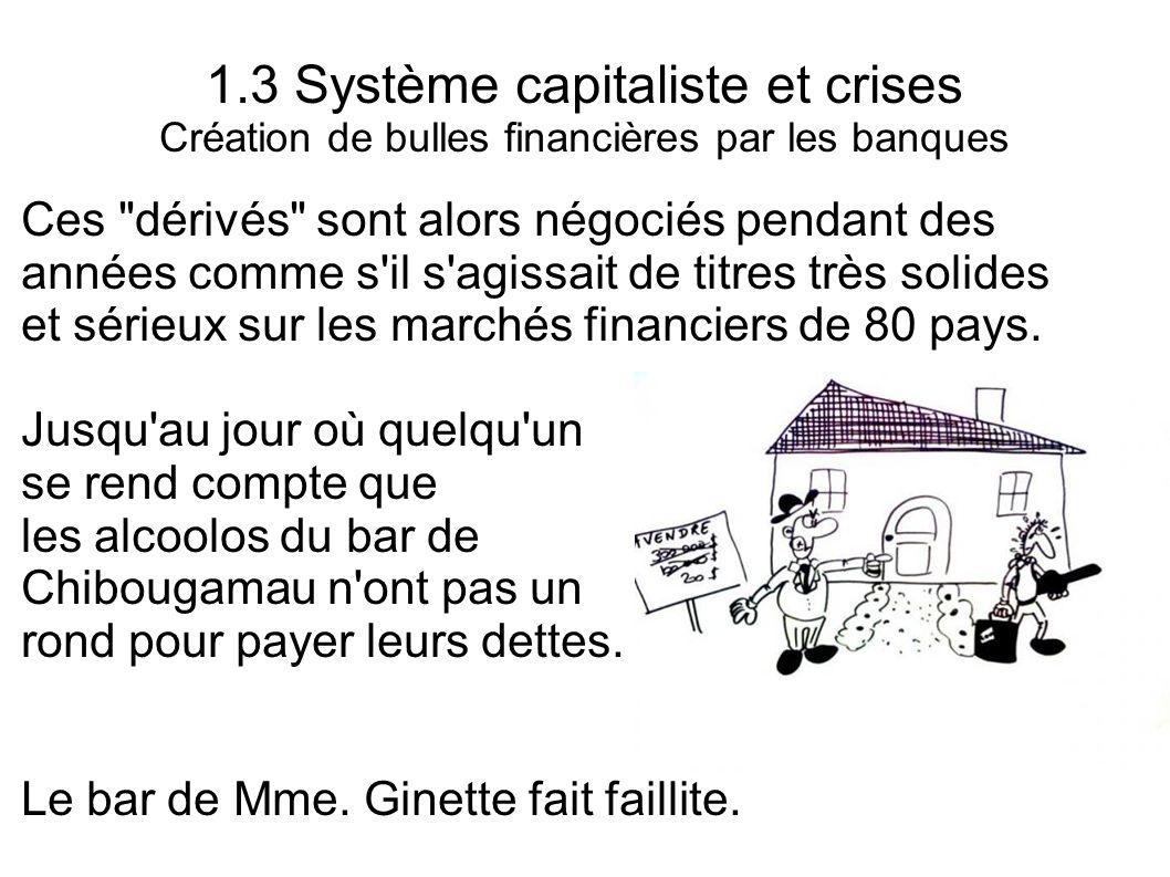 1.3 Système capitaliste et crises Création de bulles financières par les banques Ces