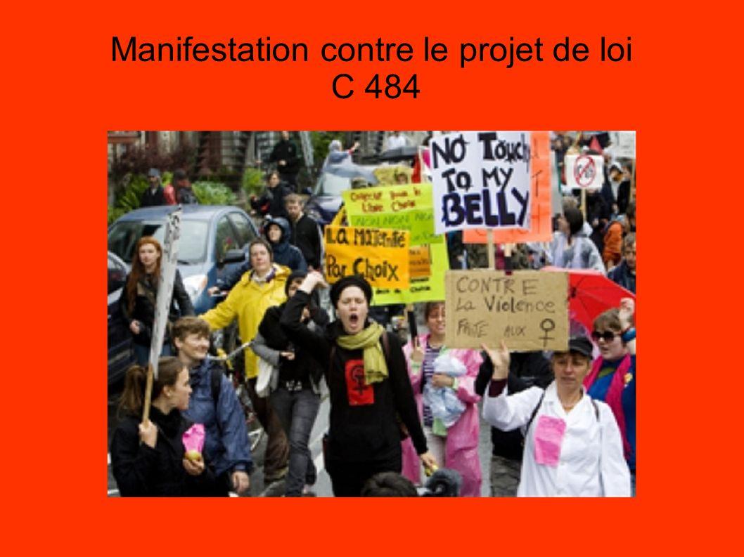 Manifestation contre le projet de loi C 484