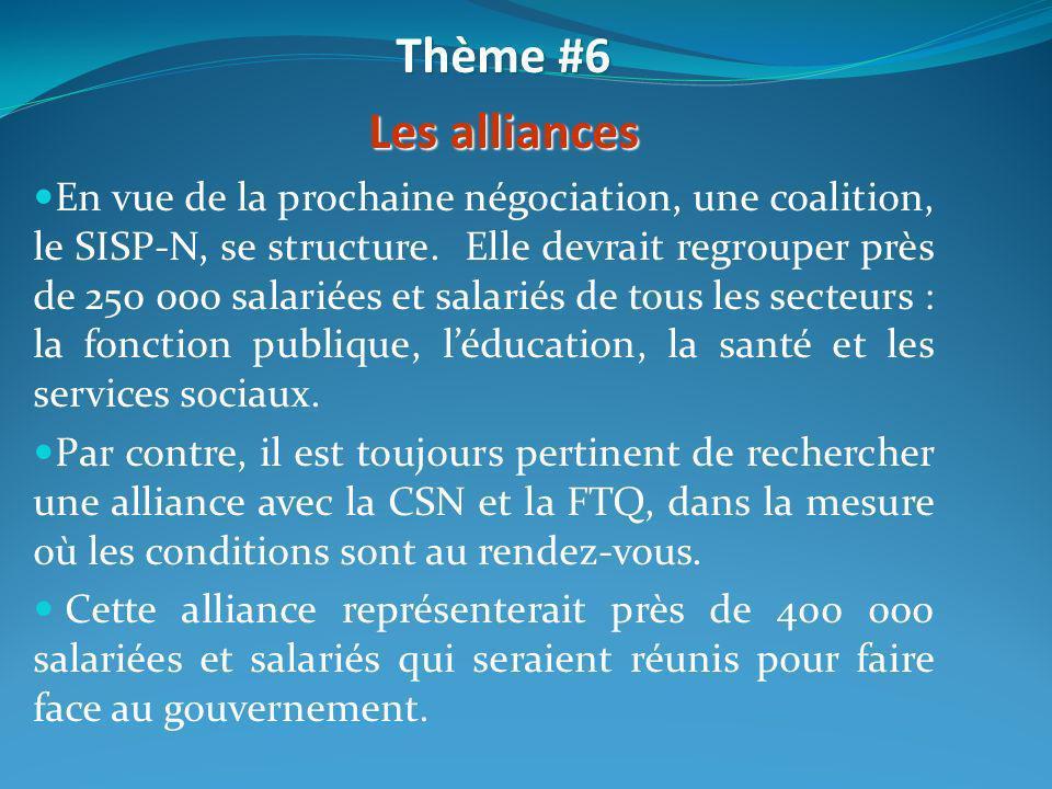 En vue de la prochaine négociation, une coalition, le SISP-N, se structure. Elle devrait regrouper près de 250 000 salariées et salariés de tous les s