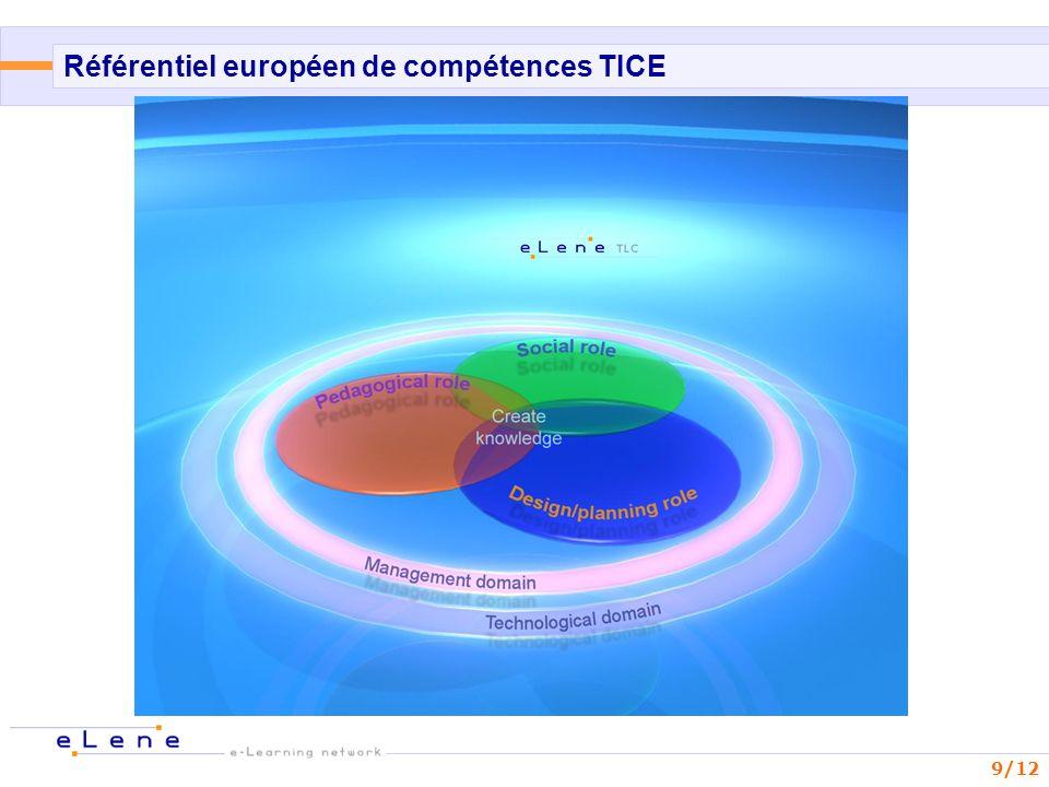 9/12 Référentiel européen de compétences TICE