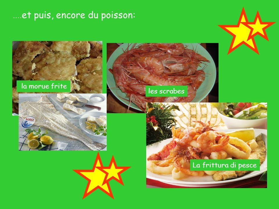 …. et puis, encore du poisson: la morue frite les scrabes La frittura di pesce