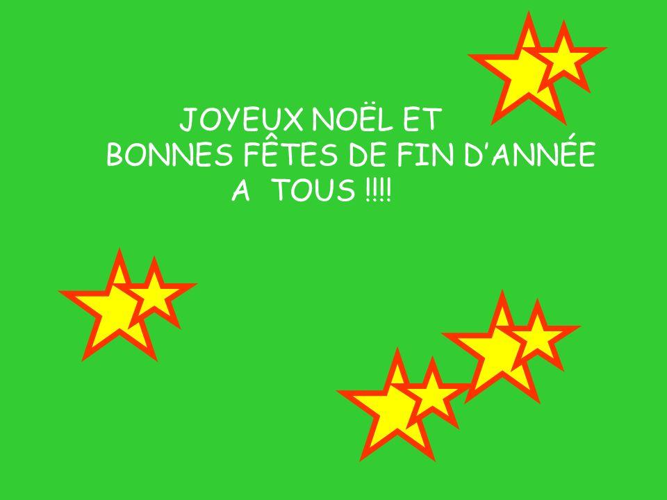 JOYEUX NOËL ET BONNES FÊTES DE FIN DANNÉE A TOUS !!!!