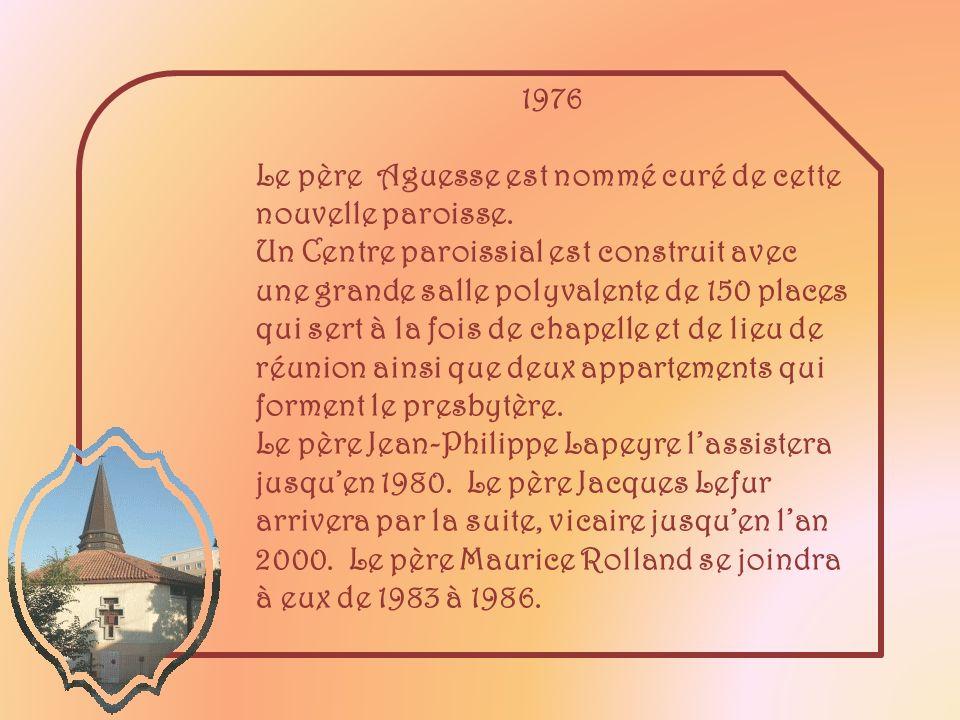 Pour ce tabernacle, le père Aguesse a demandé à Nicole Boutrolle, styliste dAix-en-Provence, de le concevoir et, bien sûr, lui aussi, il est en place pour la bénédiction de léglise.