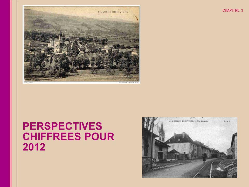 PERSPECTIVES CHIFFREES POUR 2012 CHAPITRE 3