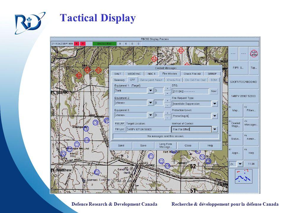 Defence Research & Development Canada Recherche & développement pour la défense Canada Tree View of Information