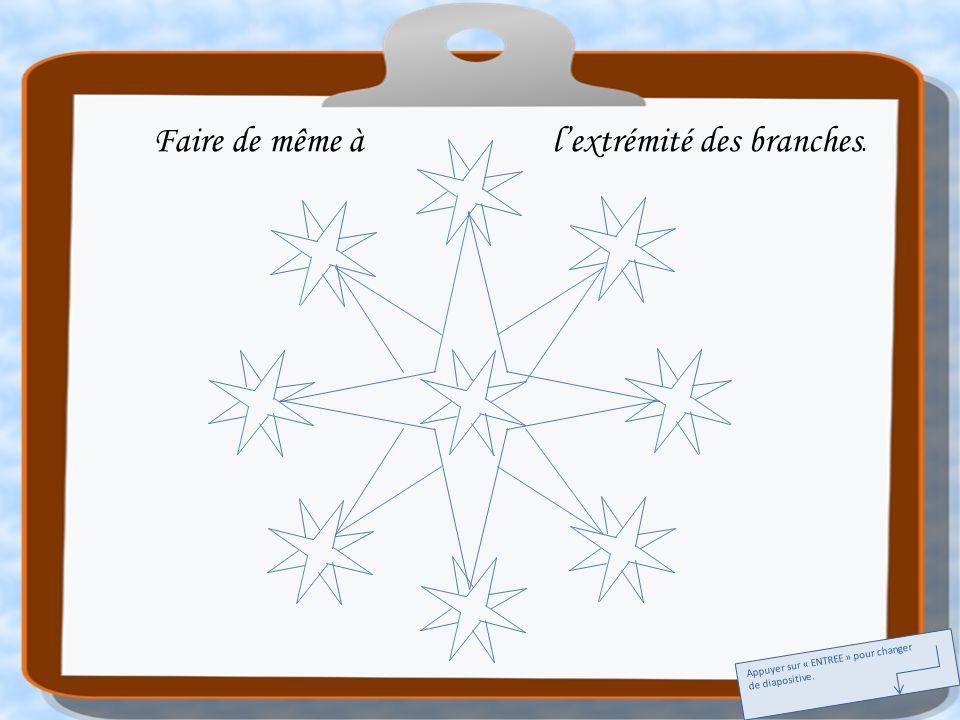 Faire de même à lextrémité des branches. Appuyer sur « ENTREE » pour changer de diapositive.