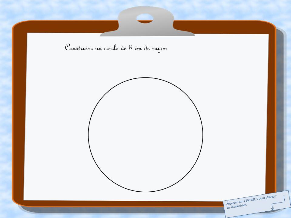 A E I M Tracer deux diamètres perpendiculaires. Appuyer sur « ENTREE » pour changer de diapositive.