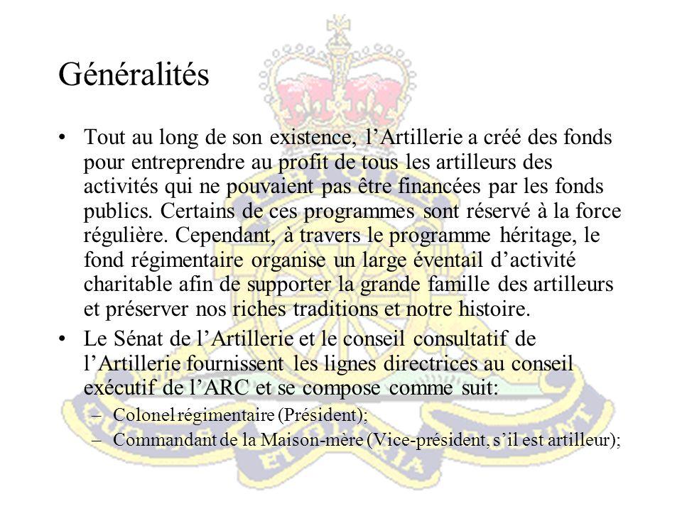 –Commandants dunités de la force régulière et leurs Sergents-majors; –Un commandant dunité de la première réserve; et; –SMR ARC.