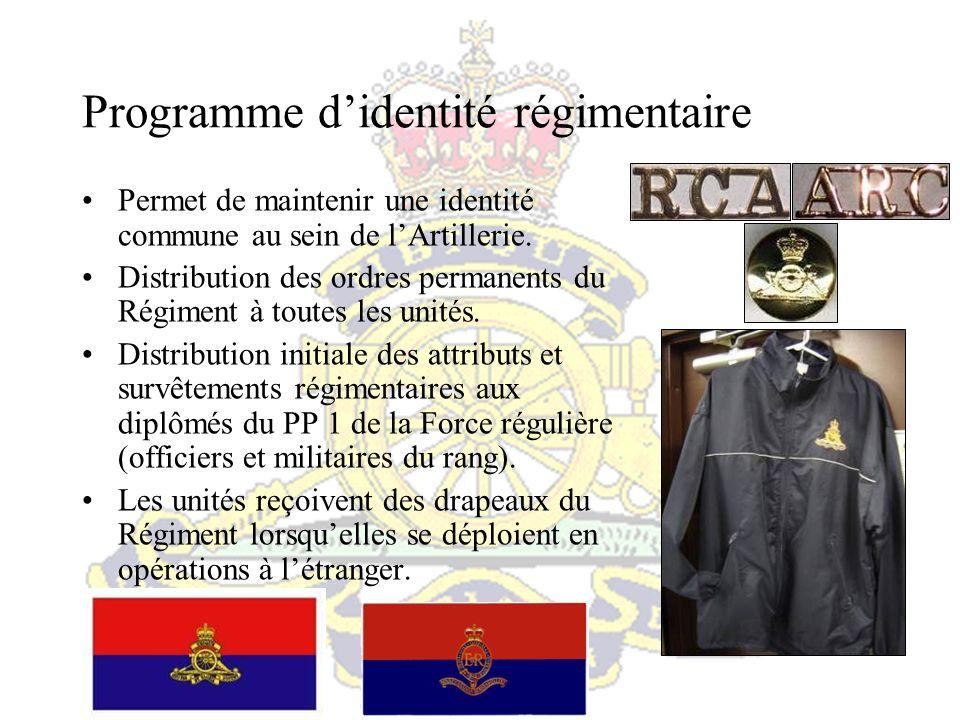 Programme de perfectionnement professionnel régimentaire Conçu pour favoriser le perfectionnement professionnel au sein de lArtillerie.