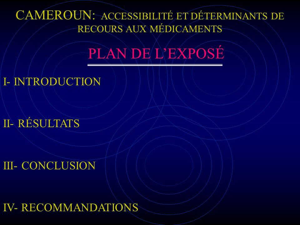 I- introduction I-1 Généralités sur le Cameroun I-2 Présentation de létude I-3 Objectif de létude I-4 Méthodologie