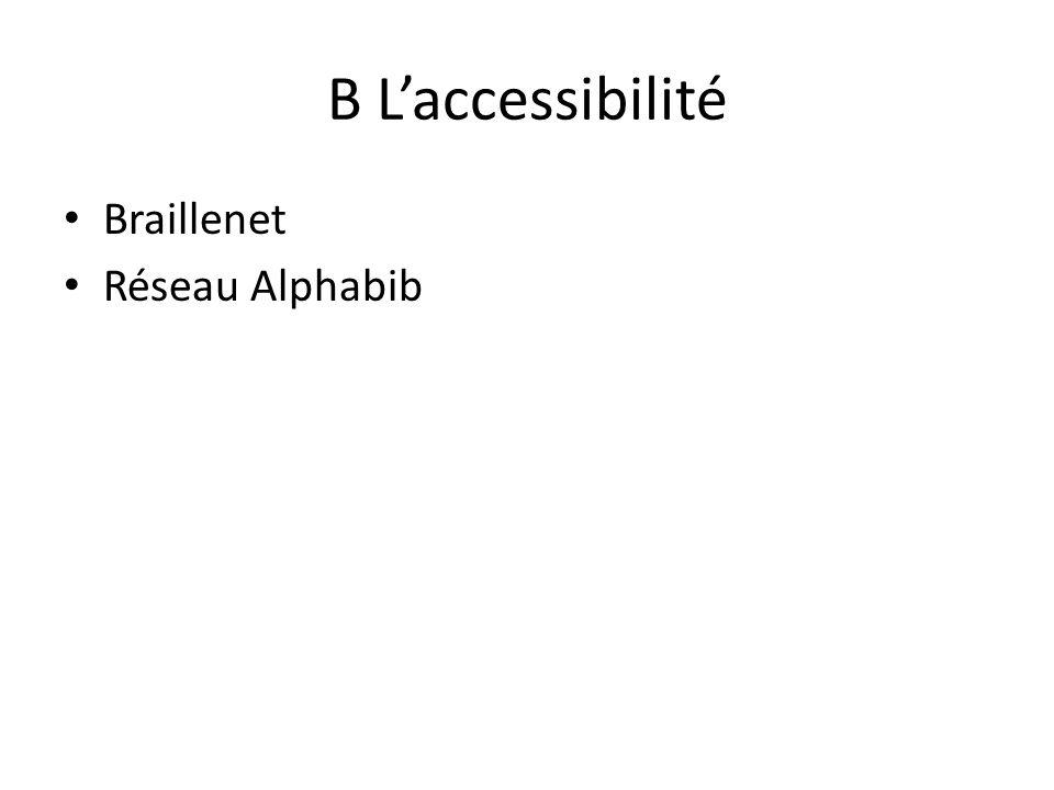 B Laccessibilité Braillenet Réseau Alphabib