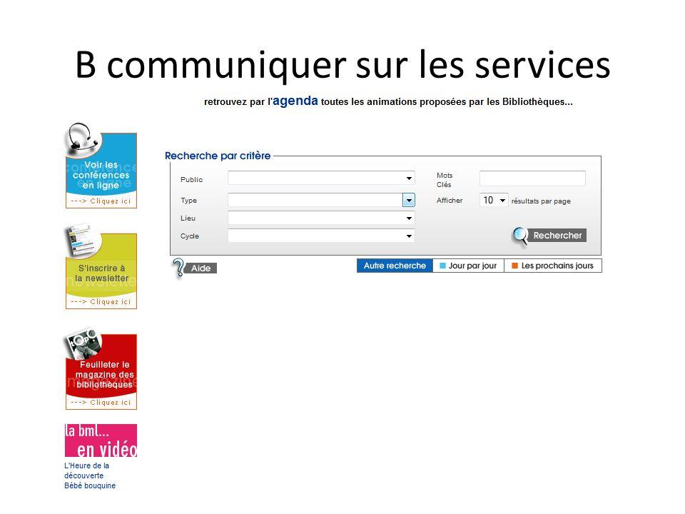 B communiquer sur les services