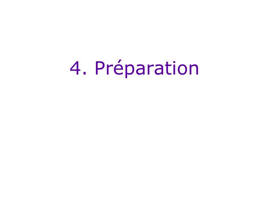 4. Préparation