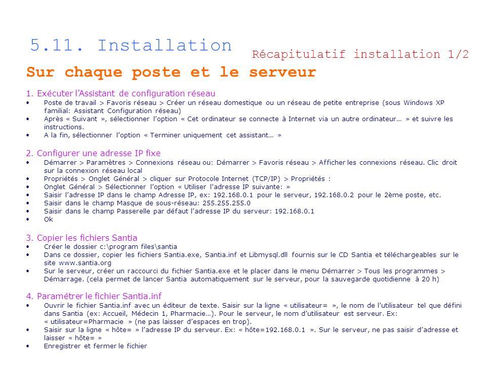 5.11. Installation Sur chaque poste et le serveur 1. Exécuter lAssistant de configuration réseau Poste de travail > Favoris réseau > Créer un réseau d